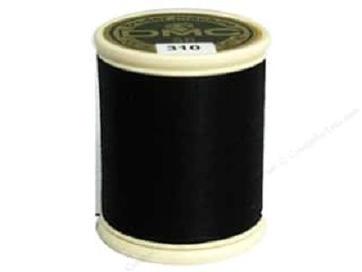 DMC Cotton Machine Embroidery Thread<br>310 - Black<br>