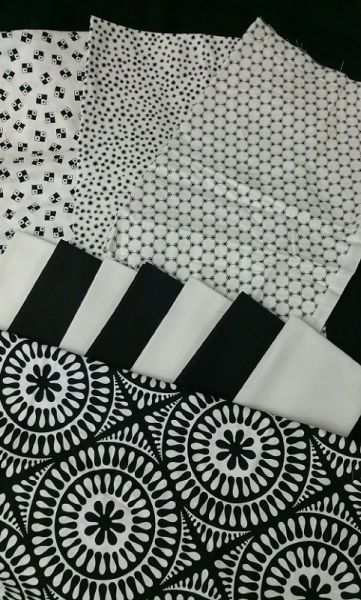 Black and White<br>Yardage and Fat Quarters<br>