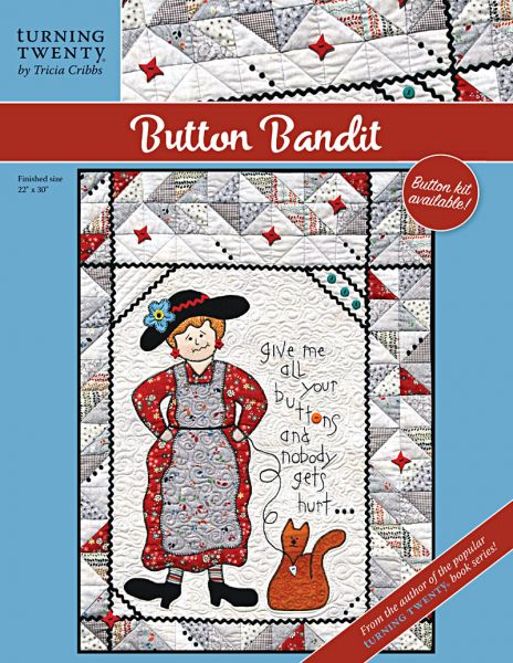 Button Bandit Pre-cut Kit<br>includes pattern - rickrack - buttons<br>
