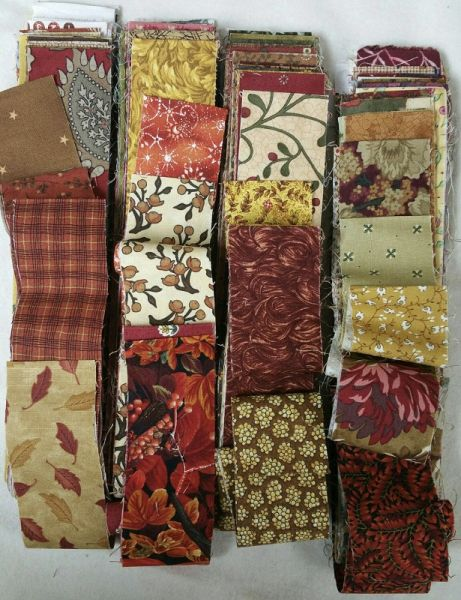 "Fall Strip Bundle<br>Over 80 precut 2"" x wof strips<br>At least 4 yards of fabric<br>"