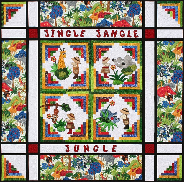 Jingle Jangle Jungle Bundle<br><font color=red>Includes Pattern and Precut Border Fabric</font><br>