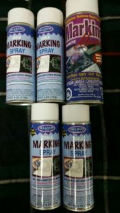 Marking Spray Bundle<br>Our last 5 cans - all 1 bundle<br><br>