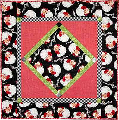 Minnies Luncheon Cloth Here Comes Santa Claus Quilt