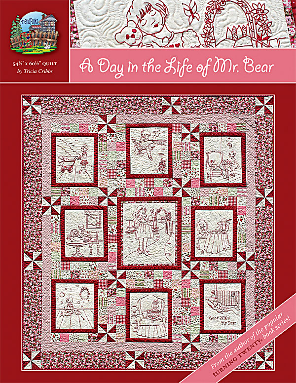 A Day in the Life of Mr. Bear Pattern Hand Embroidery