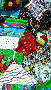 Novelty Box<br>Box 4<br>Over 5 pounds<br>Sampling of fabrics included<br> Perfect for I Spy Quilts!<br><br>