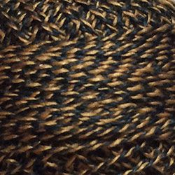 Valdani Thread pt12<br>Twisted Tweed<br>Black Gold<br>Size 12<br>