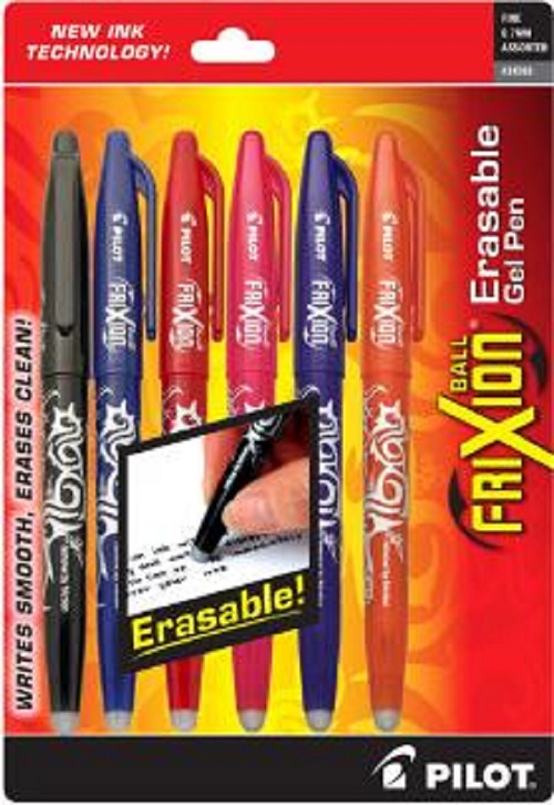 Frixion Ball Gel Pen 6ct Asst<br>