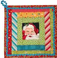 Santa in the Courthouse Potholder