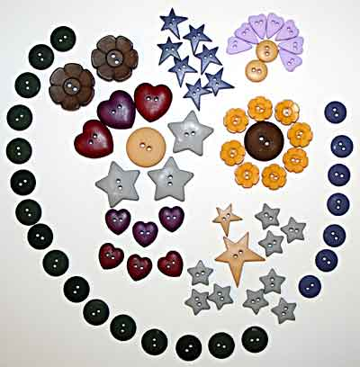 Rusty Garden Heart Button Pack<br>