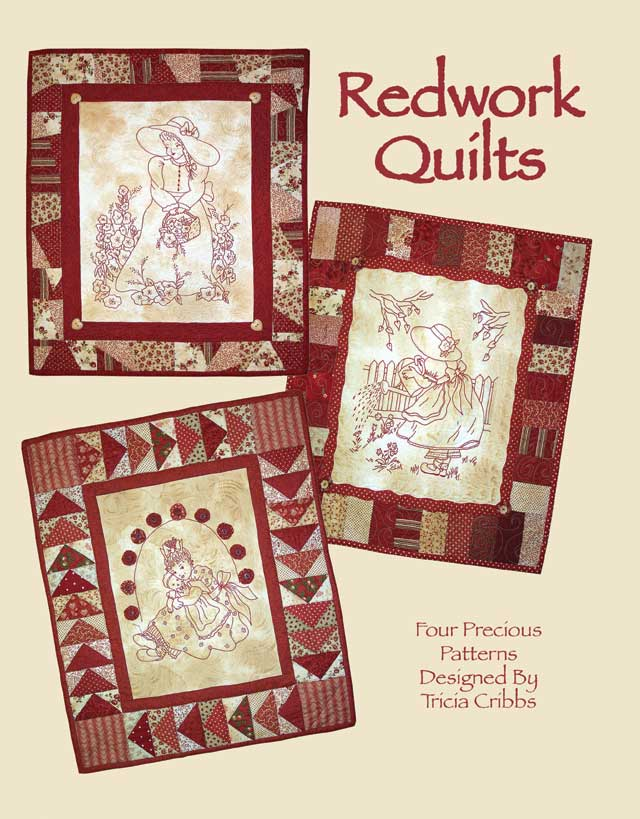 Quilting Redwork Designs : Redwork Quilts (Book #1) at FriendFolks by Tricia Cribbs