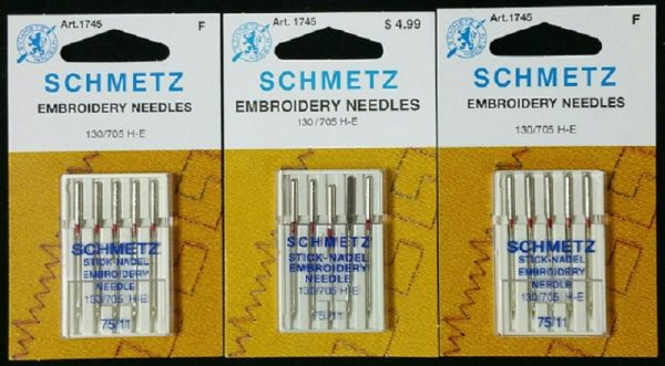 Schmetz Embroidery Needles<br>Set of 3 packages<br>