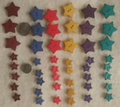 Dill Buttons<br>Made in Germany<br>Very nice quality<br>18 large stars<br>30 small stars<br>