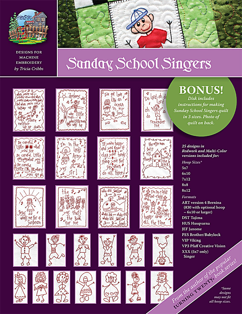 Sunday School Singers Machine Embroidery CD<br>