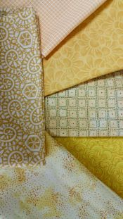 Yellow Blenders<br>Six 1/2 yard cuts<br><br>