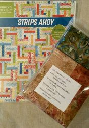 Strips Ahoy Precut Batik Kit<br>68x84<br>Includes Binding and Pattern<br>2 kits make king size quilt<br><br>