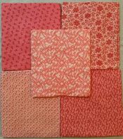 Double Pinks<br>5 half yard cuts<br>Total 2 1/2 yards<br><br>