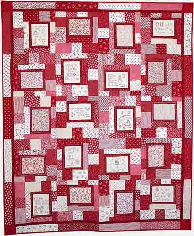 Redwork Quilt (stitcheries from Love Covers Machine Embroidery CD)