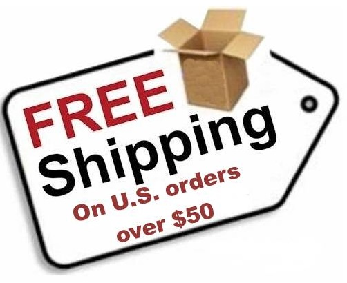 Free shipping on orders of $50.00 or more (within the United States).