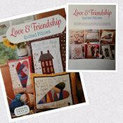 Love and Friendship Quilted Pillows<br>by Tricia Cribbs<br>6 sweet applique/embroidery patterns<br>