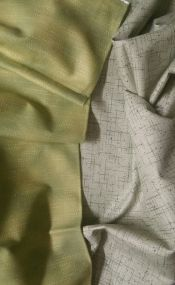 Stof Quilters Basics<br>From Denmark<br>Light Green texture is 2 yard cut<br>Darker Green is 1 yard<br>Total 3 yards<br>
