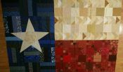 Texas Quilt Top<br>60x84<br>Click to see closeups of fabrics and piecing<br>Needs pressing<br>