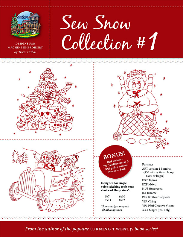 Sew Snow Collection 1 Machine Embroidery CD<br>