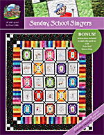 Sunday School Singers Quilt Pattern Hand Embroidery<br>