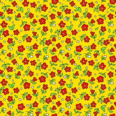 Barnyard Boogie #3267-54-Yellow with Flowers